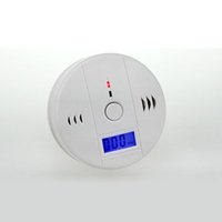 Wholesale Smoke Detector Gas Leak - LCD Screen CO Alarm Gas Leak Detector Automatically Switch The Third Gear Detection Free Shipping