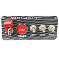 Wholesale Engine Start Switch Panel - 2017 Professional Racing Style Car 12V Ignition Switch Engine Start Push Button 3 Toggle Panel with Indicator Light DIY Switch