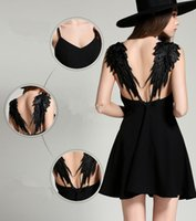 Wholesale Summer Wings Dress - 2017 New Fashion Europe Summer Dresses Women Sexy Clothing Sexy Lace Camisole Dress Lace Up Dress Skirt Wings Dress Party Dresses Evening