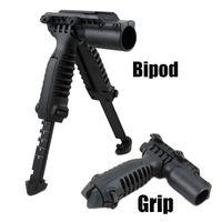 Wholesale T Pod Foregrip Bipod - Tactical MAKO FAB Defense T-POD 3 in 1: Foregrip, Bipod & Flashlight Holder Laser Mount Black