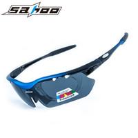 Wholesale Tac Lens - Wholesale- SAHOO 2017 new sports ski bicycle bike cycling glasses eyewear sunglasses men TAC polarized 5 lenses UV400 protection windproof