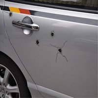 1pcs 3D Funny Simulation Gun Bullet Hole autocollants et autocollants pour Japan Car Motorcycle 24/6/15 trous