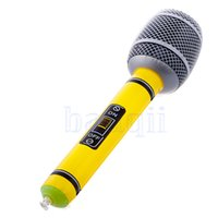 Wholesale Inflatable Microphone Toys - Wholesale-2X Inflatable Blow Up Microphone Music Instrument Toy Party Kids Birthday Gift HG1752