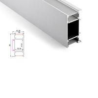 aşağı led led duvar lambası toptan satış-50 x 1M çok duvar yıkama alüminyum yol profil ve düz H tipi yukarı ve lamba duvar alüminyum kanal yol / ayarlar