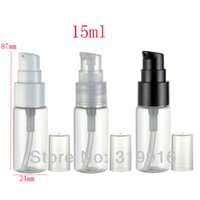 Wholesale Bottle Pump For Cosmetic Packaging - 15ml transparent empty treatment cream pump travel size container bottle, 15g lotion pump bottles for cosmetics packaging 1 2 oz