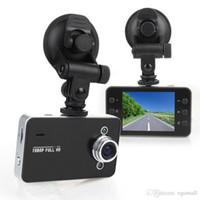 kameralar için gece görüşü toptan satış-DVR K6000 NOVATEK 1080 P Full HD LED Gece Kaydedici Dashboard Vizyon Veicular Kamera dashcam Carcam video Registrator Araba DVR