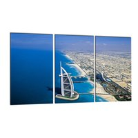 Wholesale arts architecture - 3PCS Modern City Architecture Canvas Prints Dubai's Burj Khalifa Print Wall Art Paintings Decor for Home