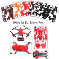 Wholesale Carbon Fiber Skin Stickers - Skin for DJI Mavic Pro Waterproof Carbon Fiber Decorative Sticker Decal Skin Wrap Cover Kit Drone Body, Remote Controller, Battery and Arms
