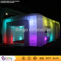 Wholesale Party Tent Sales - Giant Tent Type Inflatable Party Tent 9.5*5*3.7M Inflatable Cube Bar Event Tent Childrens Play Tents Home for sale with Lighting