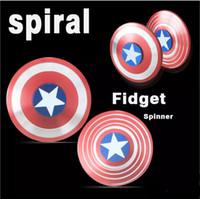 piscar beyblade venda por atacado-2017 finger spinner capitão americano rolamento rápido fidget mão spinner dedo gyro edc dcdd austim fidget l016