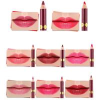 Wholesale dark brown lip liner online - Cosmetic Lipliner Pencil Lipstick Lip Liner Set Kyli Lip Liner Pencil Long Lasting makeup tools matt velvet lipline pen lip gloss