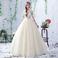 Wholesale Ladies Beautiful Gowns - bow high quality noble women wedding dress princess ball gown lace sexy women dress in marriage day be the most beautiful lady bride dresses