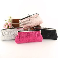 Wholesale Girls Banks - Creative Sequins Long Wallet Women Girls Fashion Paillette Coin Purse Key Holder Hasp Buckles Bag Handbag Bank Card Casual Bag WX-W17