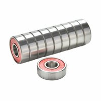 Wholesale Hot Red Bearings For ABEC Stainless Steel High Performance Roller Skate Scooter Skateboard Wheel Bearings