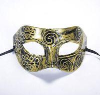 ingrosso maschere di plastica-Maschera mascherata maschere maschere maschili maschere veneziane maschere mascherate Maschera mezza faccia plastica opzionale WA2004 multicolore
