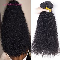 7A Brazilian Hair Curly Wave 4 Bundles 100% Weave de cabelo humano Cheap Unprocessed Brazilian Deep Kinky Curly Human Hair Extensions Soft Thick