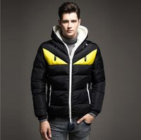 Wholesale Silver Down Coats - Wholesale- Winterjacke Herren Patchwork Down Jacket Men Fashion Male Warm Parkas Slim Furry Hoodie Coat Hombre Jackets For Autumn Winter