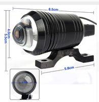Wholesale motorcycle headlight lenses - 2X Universal U1 Fisheye Lens LED 12W Motorcycle Light Headlight Driving Fog Spot Night Work Lamp