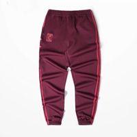 Wholesale Kanye West Pants - Wholesale- 2017 Calabasas Season 4 Jogger Pants Men Kanye West Hip Hop Pants Streetwear Casual Mens Red Sweatpants KMK0050-5