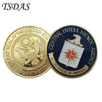 Wholesale Pc Intelligence - US (Central Intelligence Agency) CIA Coin 40g pc, Colorful Pure 40*3mm Military Metal Coin as Commemorative Coin