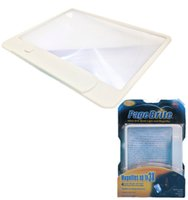 Wholesale Large Magnifier 3x - Page Brite old man Ultra Slim Book Light Magnifier Lightweight Book Light Led page Magnifier Large viewing area 3X Magnification