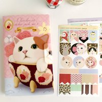 Wholesale Jetoy Cute - Wholesale- 8 Pcs   Pack Jetoy Cute Cat Suit Decorative Stickers Diary Stationery Stickers Affixed Diary Memo Pad Deco Sticker