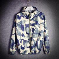 Wholesale Mens Long Military Coats - Camouflage Camo Jacket Men Casual Summer Mens Military Jackets & Coats Windbreaker Chaqueta Hombre Casaco Masculino veste homme