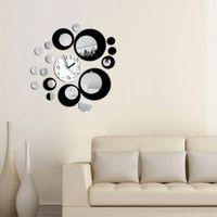 círculos de arte de la pared al por mayor-Al por mayor-Modern Circles Acrylic Mirror Style Reloj de pared Extraíble Decal Art Sticker Decor