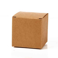 Wholesale Box For Wedding Cards - happy_weddings Kraft Paper Card Boxes Gift Boxes 6x6x6cm Fashion Gift Boxes For Party Gift 100pcs