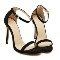 Wholesale Name Brand Sandals - Wholesale-Brand name ZA R 2016 wedding sandals high heels pumps summer T-stage sexy wedding shoes for party sandals Peep toe Buckle trap