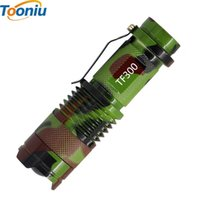 Wholesale Cree 7w Flashlight - ZK50 New Camouflage LED Flashlight Mini Zoom Tourch Led 7W CREE 2000LM Waterproof 3 Modes Zoomable Torch AA 14500 battery Flashlights