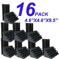 """Wholesale 12 X 16 - 16 PCS 12 x 12 x 24 cm(4.96""""x4.96""""x9.7"""") Black purple Studio Soundproof Foam Charcoal Bass trap Acoustic Sponge"""