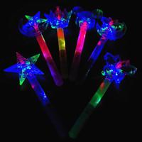 Wholesale Magic Fairy Stick - Magic Fairy Stick Children LED Toys Colorful Xingyue Magic Wand Wholesale Ice Princess Enchanted Crown Flash Stick Wholesale