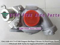 turbos de enfoque al por mayor-Turbo TD02 49173-07508 49173-07506 Para FORD Focus Fiesta Fusion Peugeot Berlingo Citroen C4 1.6L HDi DV6ATED4