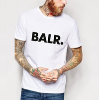 Wholesale 2017 Hot mens Casual t shirts Balr printed street tide brand Tees Mans Fit tees Mans Cotton Tops Male O neck Clothes Homme fashion Tees