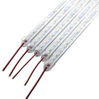 dolap örtüsü toptan satış-Süper Parlak Sert Sert Bar hafif DC12V 36 72 led SMD 5630/5730 Alüminyum Alaşım Led Şerit ışık Cabinet LED ile Kapak