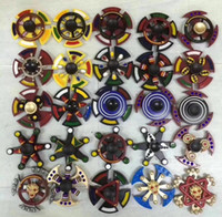 Wholesale Fidget Autism - Christmas fidget spinners Double bearing Rainbow Hand Spinner alloy Spinner Fidget Toy EDC Autism ADHD Finger Gyro kids Toys Adult Gifts