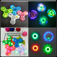 Wholesale Fidget Spinner ABS Or Crystal Bluetooth Spinner and Led Usb Hand Spinner toy EDC Toy For Decompression Anxiety Toys