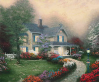 Home Is Where The Heart is Thomas Kinkade Peintures à l'huile Art Wall Modern HD Print On Canvas Décoration intérieure Pas de cadre