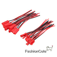 Wholesale Cable Mask - Wholesale- 10Pair Battery Plug JST RC Model Socket Connector Cable Wire Male Female 22AWG 15CM