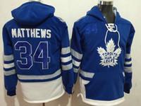 Wholesale Cheap Windproof Fleece - #34 Matthews Sports Hoodies Toronto Maple Leafs Blue 2017 Centennial Classic Premier Player Stitched Sports Hoodies Cheap Hockey Jacket