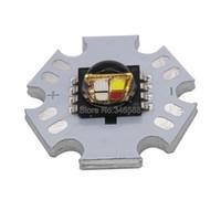 Wholesale Cree Mce - Wholesale- Cree XLamp MC-E MCE RGBW RGB White or RGB Warm White High Power LED Emitter Lamp Bead mounted on 20mm Star PCB