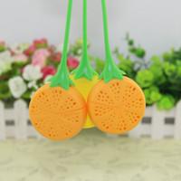 bitkisel çanta toptan satış-Meyve Şekilli Çay Süzgeci Silikon Limon Tasarım Gevşek Tea Leaf Süzgeç Çanta Bitkisel Demlik Filtre Araçları