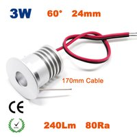 Wholesale led name lights - Wholesale- 24PCS Holiday Name High quality 3w 23mm cut Bridgelux led downlight lamp outdoor prom led down light CE SAA Fashionable