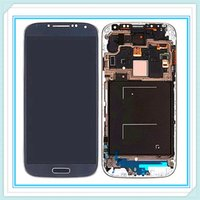Wholesale Galaxy S4 I545 - Original LCD Display With Frame For Samsung Galaxy S4 SIV i9500 9505 I545 I337 LCD Touch Screen Glass Digitizer Assembly Blue White