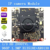 Wholesale Mobile Megapixel Camera - 1.3 Megapixel IP Camera Module Board 1280*960P CCTV Camera IP Chip Board 1.3MP 6mm Lens Pinhole Camera Mobile Phone View