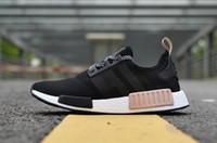 Wholesale Lady Shoes Spikes - NMD Runner R1 Mesh Salmon Talc Cream Olive Triple Black Men Women Running Shoes Sneakers Ladies xr1 Primeknit Sport Trainers 36-45