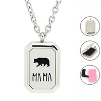 Wholesale 33mm Stainless Steel Chain - Free with Chain and Pads! Hot 23mm*33mm Magnetic 316L Stainless Steel Essential Oil Diffusing Locket Heritage Perfume Locket Necklace