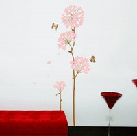 moderner tapetenverkauf groihandel-Hydrangea Wandaufkleber Dekoration Abnehmbare Tapete Kinder Kinderzimmer Niedlich Hot - Sale Decor Large Adhesive Child Sticker Modern