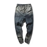 Wholesale Wholesale Clothing Skinny Jeans - Wholesale- Men's Clothing Casual Jeans 2017 Men Denim Hip-Hop Jeans Harem Pants Men's Pants Male Blue Trousers Size Big Yards 5XL